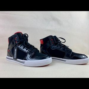 Supra Black and Red High-tops